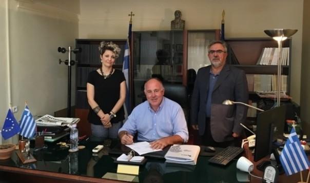 Υπεγράφησαν οι συμβάσεις σύνδεσης φυσικού αερίου των δημοτικών κτιρίων Βελεστίνου