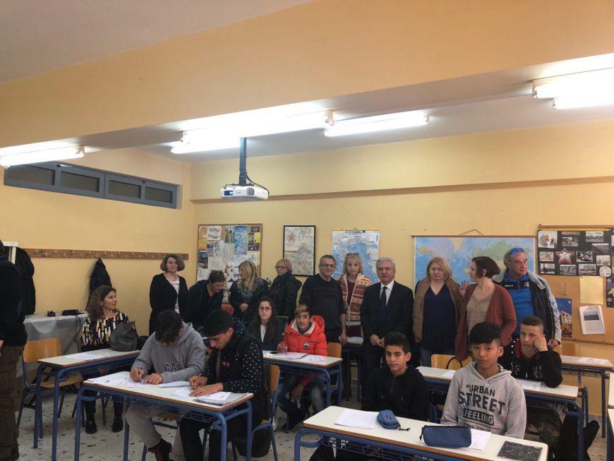 Ενημέρωση αντιπροσωπείας από Ε.Ε και Σερβία, στο πλαίσιο εκπαίδευσης προσφύγων