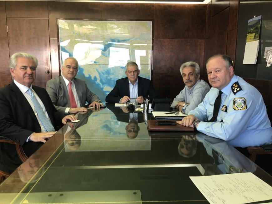Συνάντηση Δημάρχου Λαυρεωτικής με τον αν. Υπουργό Προστασίας του Πολίτη