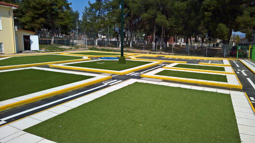 Το πρώτο Διαδραστικό Πάρκο Κυκλοφοριακής Αγωγής στην Ελλάδα εγκαινιάζεται στο Δημοτικό Σχολείο Ολύνθου Χαλκιδικής