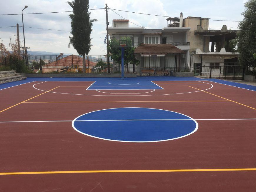 Αναβάθμιση των αθλητικών υποδομών και του αύλειου χώρου στο Γυμνάσιο Οινοφύτων