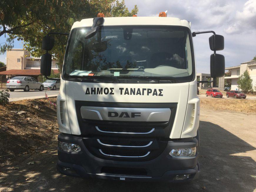 Ένα νέο σύγχρονο απορριμματοφόρο απέκτησε ο Δήμος Τανάγρας