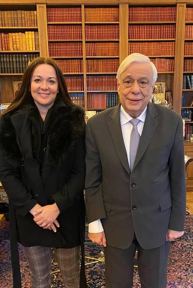 Με τον Πρόεδρο της Δημοκρατίας συναντήθηκε η Δήμαρχος Νικολάου Σκουφά