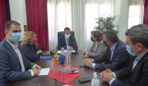 Επίσκεψη της Υπουργού Πολιτισμού Λ. Μενδώνη, στον Δήμαρχο Καστοριάς, Γιάννη Κορεντσίδη.