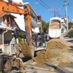 Εργασίες κατασκευής δικτύου αποχέτευσης λυμάτων βιολογικού καθαρισμού σε Δ.Ε Κομποτίου και Αράχθου